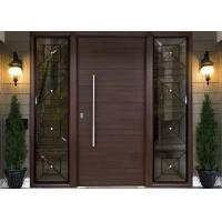 Buy cheap Simple Modern Solid Oak External Front Doors Decorative Panel Design For Home from wholesalers