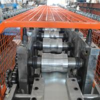 Buy cheap Fully Automatic Metal Roll Forming Machines / Hydraulic Cutting Door Frame Making Machine product