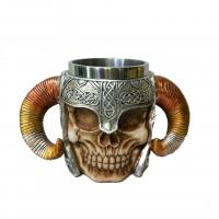 Buy cheap polyresin skull mug 350ml from wholesalers
