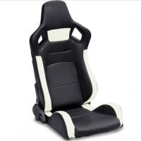 Buy cheap PVC Adjustable White And Black Racing Seats / Sports Car Seat with single slider product
