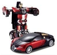 Buy cheap Transformers 4 battle robot electric acousto-optic toy remote control car Bugatti from wholesalers
