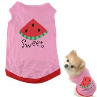 Buy cheap pink Pet Puppy Summer Shirt Pet Clothes T Shirt with watermelon printing from wholesalers