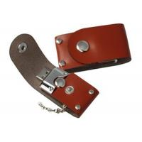 Buy cheap Business Gift Brown USB Thumb Drives Embossment Write Delete Protection Switch from wholesalers