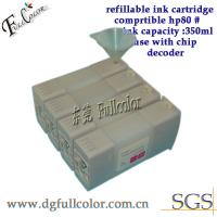 Buy cheap Custom 350ml Bulk Refillable Ink Cartridge With Chip For HP Printer 80 from wholesalers
