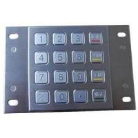 Buy cheap Panel mount numeric backlight metal keypad with 12 back-lit keys MKP110-12BL from wholesalers