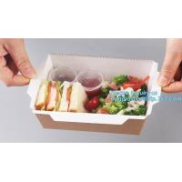 Buy cheap Kraft Rose Luxury Packaging Paper Lunch Box For Bento Malaysia Disposable 3 Compartment Folding Fast Food Burger Creativ from wholesalers