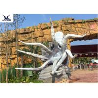 Buy cheap Outdoor Artificial Life Size Fiberglass Statues Octopus Models Amusement Park Equipment from wholesalers