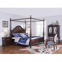 Buy cheap Palatial Villa House Bedroom Furniture set Classic Wooden King size Bed with product