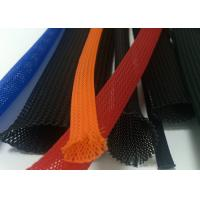 Buy cheap Colorful Braided Electrical Wire Wrap Self - Extinguishing With PET Material from wholesalers