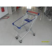 Buy cheap 80L Supermarket Shopping Carts With 4*4 Inch Casters , Grocery Store Shopping Cart from wholesalers