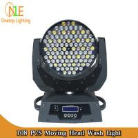 Buy cheap 3 in 1 RGBW LED Stage Light dj effect light 108x3w led moving head wash stage light supply from wholesalers