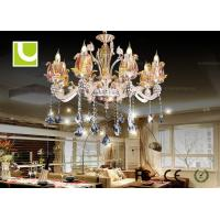 Buy cheap Traditional Hanging K9 Crystal Ceiling Lamp LED Pendant Chandelier For Living Room from wholesalers