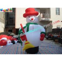 Buy cheap Customized Outside Inflatable Christmas Decorations PVC 5M Snowman from wholesalers