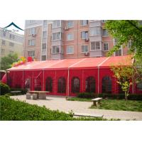 Buy cheap Chinese Red  Large Wedding Tents Sun Proof / Fire Proof  PVC  Fabric from wholesalers