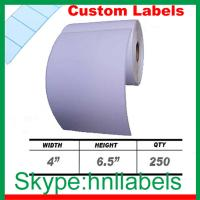 Buy cheap 4x6.5-inch Direct Thermal Label Rolls for Zebra/ Eltron Thermal Printers from wholesalers