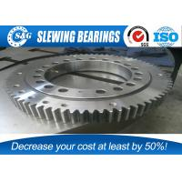 Buy cheap Low Noise Excavator Turntable Bearing , Large Diameter Ring Style Turntables Slewing Bearing from wholesalers