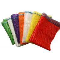 Buy cheap Plastic , PE , PP Woven Industrial Mesh Bags 50kg For Onions And Eggplant Orange Color from wholesalers