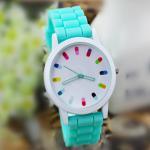 Buy cheap 2015 Women Watches Elegant Graceful Fashion Diamante Silicone Band colorful Watch Wholesale Silicone Watch Women from wholesalers