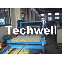 Buy cheap 1000mm Width Roof Wall PU Sandwich Panel Machine / Production Line from wholesalers