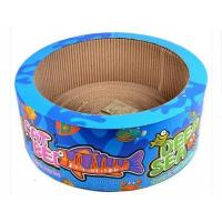 Buy cheap Round Shape Cardboard Cat Bed Multi Color Choices Attractive Non - Toxic Glue from wholesalers