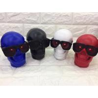Buy cheap 017 new personality skull overweight bass bones bluetooth speaker portablehone holder bluetooth speaker With TF Card Red from wholesalers