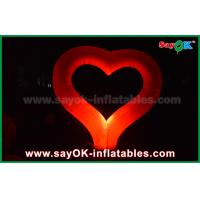 Buy cheap Nylon Cloth Party Inflatable Light Decoration Red Heart Shape For Event Wedding from wholesalers