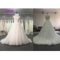 China Elegantly A Line Style Bridal Ball Gowns With Lace Applique Anti - Wrinkle Design on sale