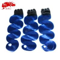 Buy cheap Ali Queen Amazing Color 1B-Blue Custom blue Human Body Wave Ship Within 15 Days Free Shipping from wholesalers