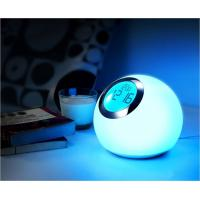 Buy cheap Round 3.5W Power LED Desk Lamps / LED Alarm Clock Lamp Colors Change from wholesalers