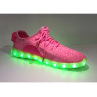 Buy cheap Breathable Pink Light Up Kids Shoes , Childrens Trainers With Flashing Lights from wholesalers