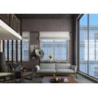 China Retro 3D Brick Wall Effect Wallpaper For Sitting Room , Chinese Style Wallpaper on sale