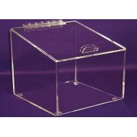 Buy cheap 3mm Candy Acrylic Display Case Clear , Plexiglass Storage Boxes with Lids product