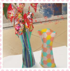 Buy cheap PVC Flower Vase,folding flower vase , measure 27*14cm product
