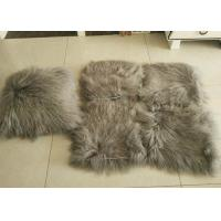 10-15cm Curly Hair Mongolian Fur Pillow Soft Warm With Suede Fabric Backing
