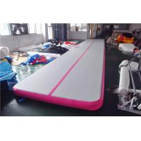 Buy cheap Pink Small Blow Up Gymnastics Mat , Inflatable Tumble Track For Home from wholesalers