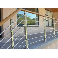 Buy cheap Wood / PVC Handrail Stainless Steel Railing Investment Casting For Office Buildings from wholesalers