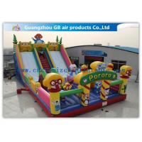 Buy cheap Waterproof Pororo Inflatable Double Slip And Slide Inflatable Fairyland Park For Playing product