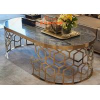 Buy cheap Modern Simple Luxury Living Room Furniture , Marble and Rose Gold Coffee Table from wholesalers