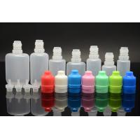 Buy cheap Flat soft 0.5OZ / 1OZ E Liquid Bottles with child safety caps , White / Blue / Orange from wholesalers