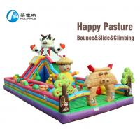 Buy cheap Happy Pasture Combo Huge Blow Up Slide Customized Inflatable Farm Bounce House from wholesalers
