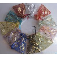 Buy cheap Transparent Drawstring Jewelry Pouch Screen Printing Logo Wedding Gift Bags from wholesalers