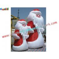 Buy cheap ODM 420D PVC coated nylon Inflatable Snowman Outdoor Blow up Christmas Decorations from wholesalers