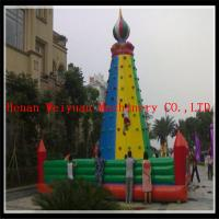 Buy cheap inflatable climbing wall, inflatable rock climbing wall, inflatable climber from wholesalers