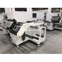 Buy cheap Two Heads Flat Bed Slitting Machine With Manual Rotary Die Cutting For Blank Label from wholesalers