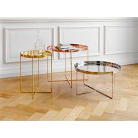 Buy cheap Nordic Style Habibi Side Table , Simple Console Rose Gold Coffee Table from wholesalers