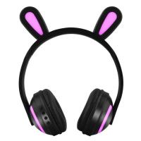 Buy cheap New Products Color Change Wireless LED Light Children kids girls Rabbit Ear Headphones from wholesalers