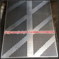 Buy cheap powder coated perforated metal mesh wall panels from wholesalers