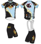 Buy cheap Short Sleeved Customized Sportswear Cycling Wear Bike Jersey And Bib Shorts from wholesalers