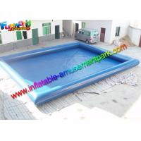Buy cheap Plato 0.9mm PVC Blue Intex Inflatable Swimming Pools For Kids / Adults from wholesalers