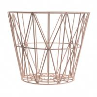 Buy cheap Brass Large Storage Wire Grid Baskets , Wire Basket Clothes Storage Hamper from wholesalers